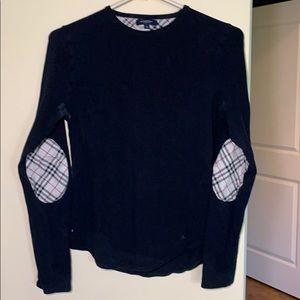 Authentic Burberry Black long sleeve T shirt